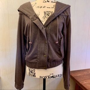 Kut From The Kloth Brown Zippered Hoodie